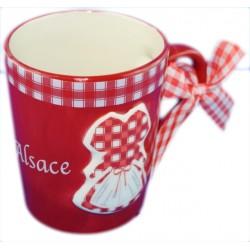 Mug ruban Alsace blanc