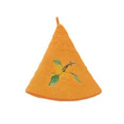 Torchon rond mirabelle, abricot