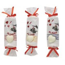 Torchon Alsace, forme bonbon + savon coeur