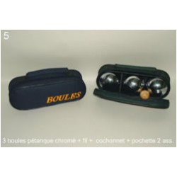 Set 6 boules de pétanque chrome CP International