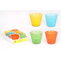 Bougie � la citronnelle dans un verre givré