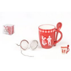 Set mug, cuillère + boule a the ruban Alsace