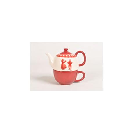 Teekrug + Tasse, Alsace