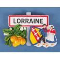 Magnet résine Lorraine couple mirabelle