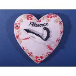 Magnet résine coeur Alsace