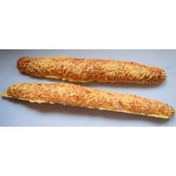 Brot mit Speck und Käse