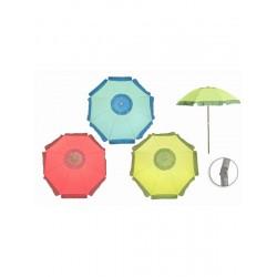 Parasol inclinable bicolore D 2m