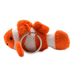Clownfisch-Plüsch Schlüsselanhänger